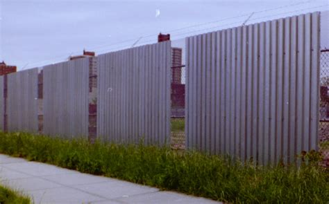 metal fence solid
