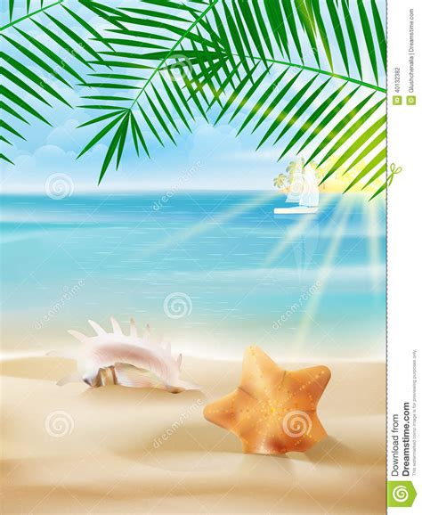 summer template summer vacation poster template stock vector image