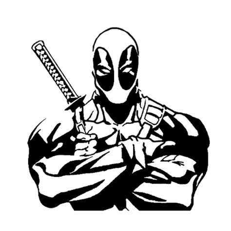 Deadpool Die Cut Vinyl Decal Pv2102 Cartoon Silhouettes Window Decal Template
