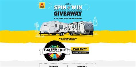 Koa Sweepstakes - koa take a spin to win giveaway