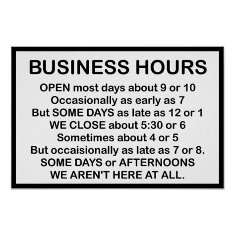 4 best images of free printable business hours sign business hours print zazzle