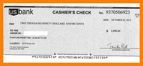56 Cashiers Check Template Cooperative Scholarschair Cashiers Check Template