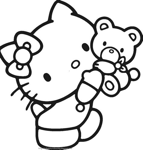 hello kitty coloring pages wallpapers 15 hello kitty black and white pictures selection black