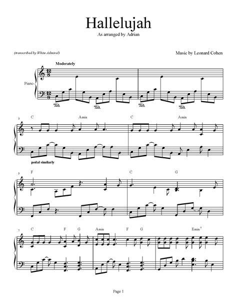 printable hallelujah lyrics jeff buckley hallelujah sheet music guitar jeff buckley hallelujah