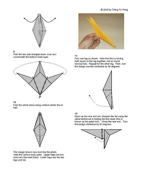 Origami Monkey Diagram - origami monkey v2 by cy hung