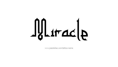 miracle tattoos miracle name designs