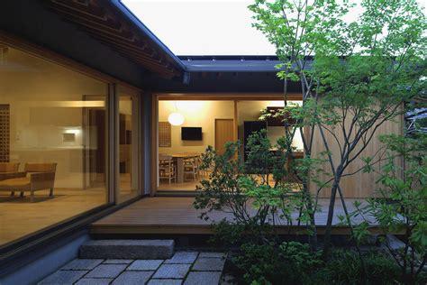 timber framed japanese house built  private gardens