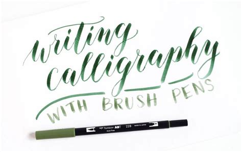 Writing Brush Pen using brush pens for calligraphy a tombow giveaway