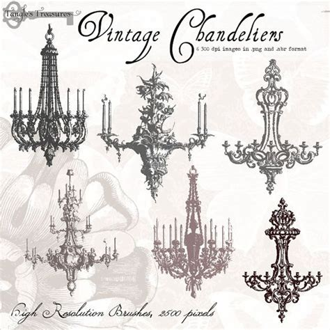 Chandelier Photoshop Brushes Vintage Chandeliers Digital Clip By Tanglestreasures 4 50 Home
