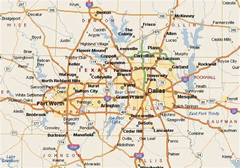 fort texas map the dallas fort worth metroplex a map covers fort worth and forts