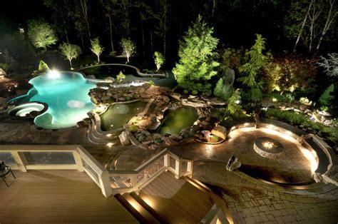 ultimate backyard ultimate luxury pool backyard in potomac md land water design inc
