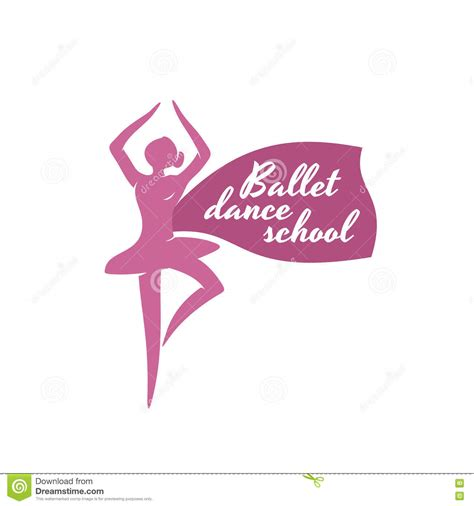 ballet dance school logo template stock image image