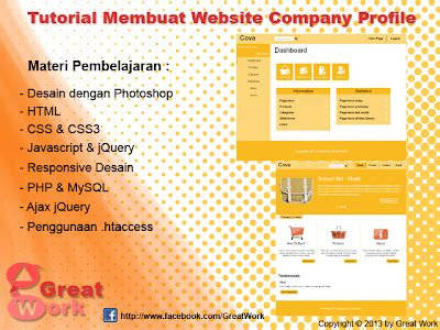 tutorial membuat website xp tutorial membuat website company profile by great work g