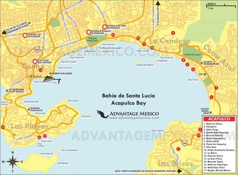 map acapulco mexico acapulco hotel map