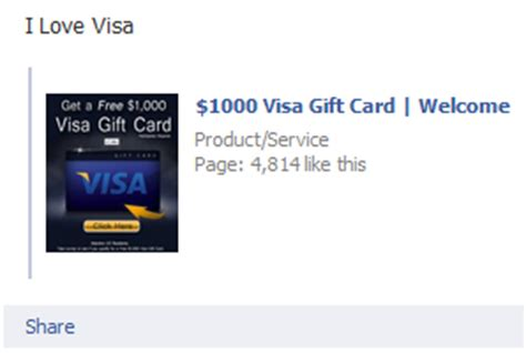 Why Isn T My Visa Gift Card Working - 1000 visa gift card welcome facebook scam