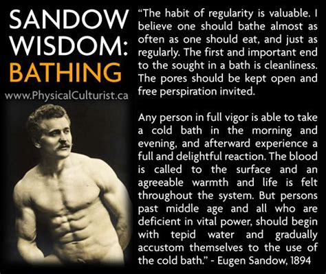 Benefits Of Cold Showers After Workout by Written In 1894 Eugen Sandow Speaks About The Benefits