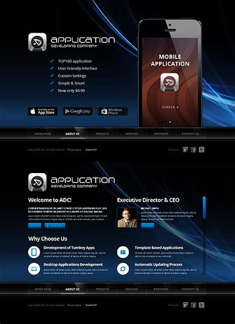 software developer templates software developer html5 template best website templates
