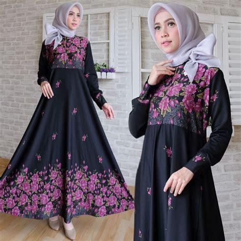 Gamis Maxi Jersey Emboss Standart 2 maxi calvin motif bunga baju gamis cantik terbaru