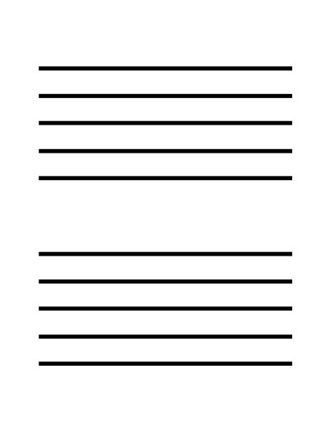 Musical Staff Lines Only On Flash Cards Template by Staff Blank Flashcards