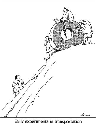 funny cartoons caveman wheel speaking of discoveries how about the wheel not the