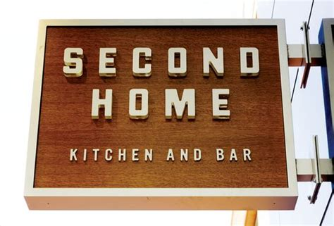Second Home Kitchen And Bar awesome signage design typography restaurant and signs