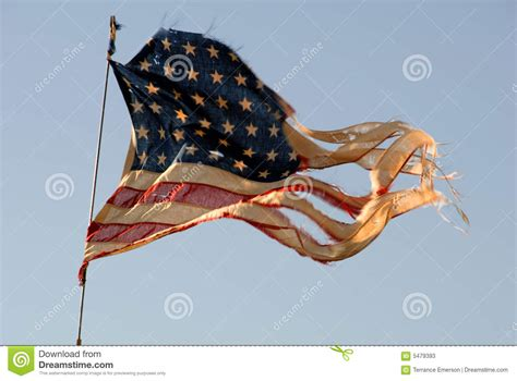 tattered american flag stock photos image 5479393