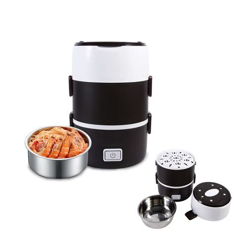 Rice Cooker Mini Termurah 220v electric 3 layers lunch box mini rice cooker steamer stainless steel dh ebay