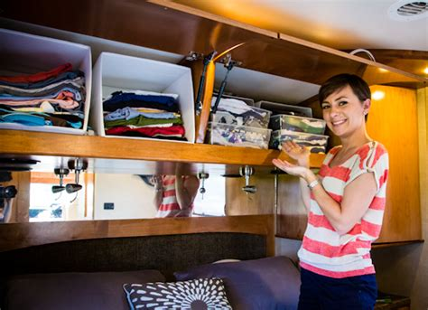 Rv Bedroom Storage Ideas Rv Space Saving Ideas The Ultimate Guide The Wandering Rv