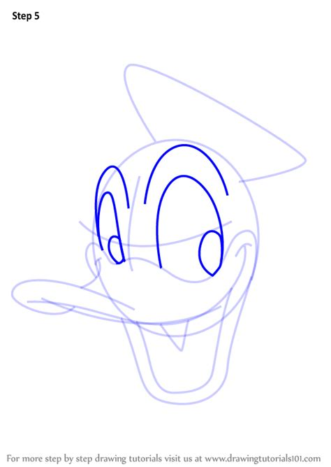 learn   draw donald duck face  mickey mouse