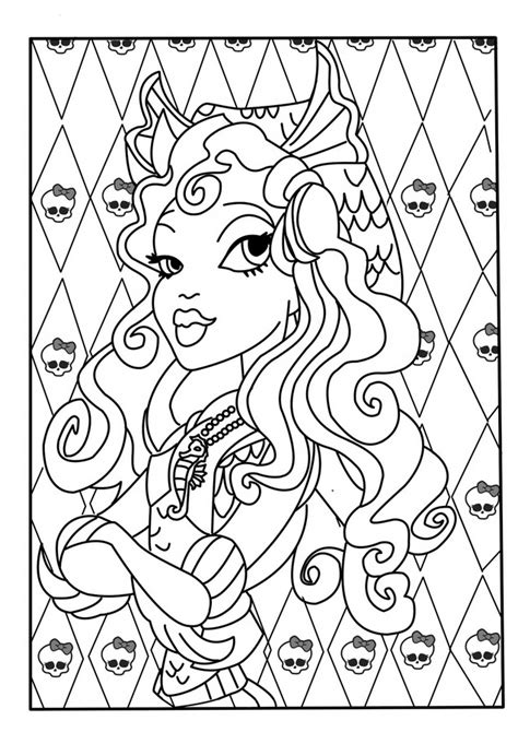 Coloriage Monster High 224 Imprimer High Color Page 2