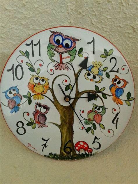 Lefranc Bourgeois Ceramic Paint Cat Keramik ceramica come mestiere orologio con gufo maestra bemalte keramik ceramica