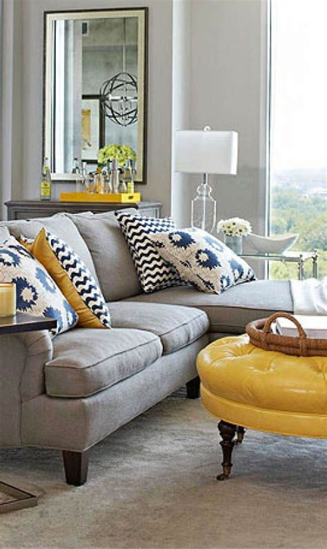yellow living room gray beautiful gray sofa with yellow accents lovely living