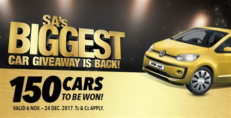 Car Giveaway Competitions - shoprite checkers again giving away 150 vehicles in sa s biggest ever win a car