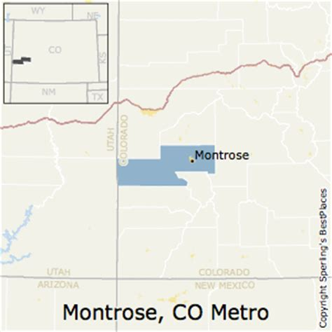where is montrose colorado on the map best places to live in montrose metro area colorado