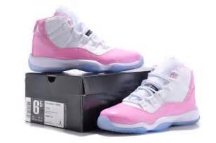 girls air jordan 11 retro white pink shoes