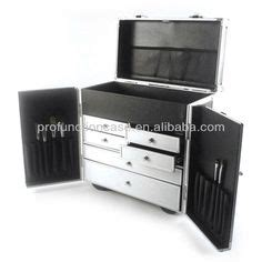 soft sided makeup trolley traincase with