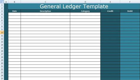 A General Ledger Template Excel Is Therefore Create To Record All Minor And Major Entries O General Ledger Template Excel
