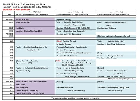 sle conference schedule template seminar schedule template 28 images sle seminar