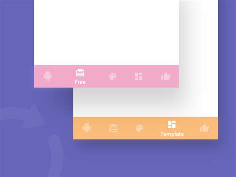 android templates for sketch android bottom nav template sketch freebie download free