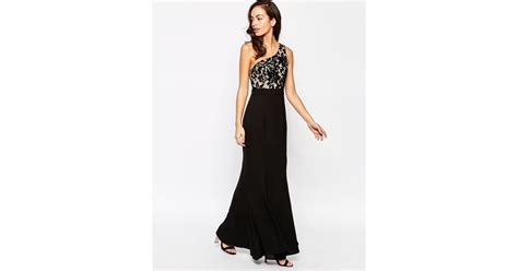 Get Macphersons Gucci Dress For 35 by Jarlo Caden One Shoulder Dress In Black Blacklace Lyst