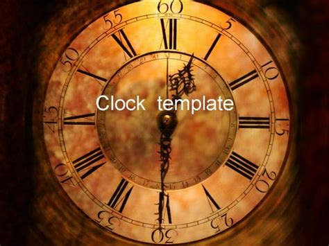powerpoint themes clock clock face powerpoint template