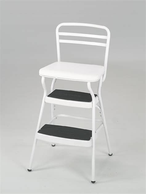 cosco home and office products white retro counter chair