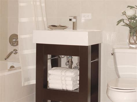 vanities for small bathroom small bathroom vanities hgtv