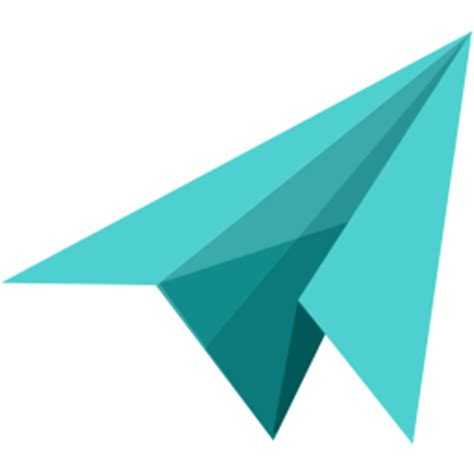 Transparent Origami Paper - message icon myiconfinder