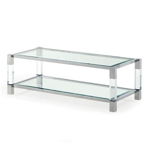 Boston Coffee Table Boston Coffee Table In Clear Glass And Polished Stainless