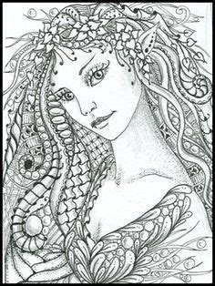 intricate princess coloring page intricate fairy coloring pages zentangles drawing pen ink