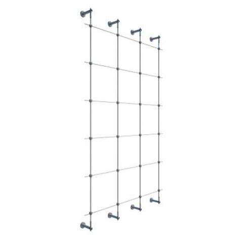 Wire Trellis System jakob 96 in wire rope plant trellis system 30790 0000 the home depot