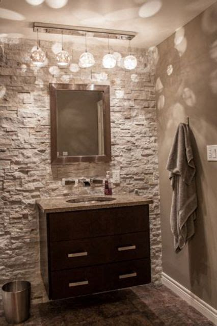 powder room accent wall ideas 31 stone accent wall ideas for various rooms digsdigs