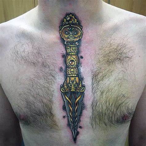 chest tattoo knife 90 dagger tattoo designs for men bladed ink ideas
