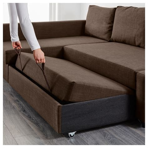 corner sectional sofa bed friheten corner sofa bed with storage skiftebo brown ikea